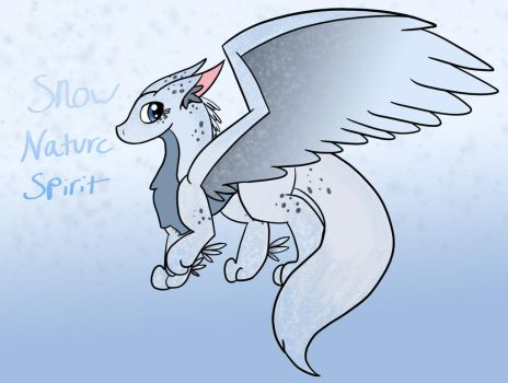Snow Nature Spirit by Zeniththeskywing