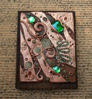 Custom Journal Cover in Copper and Umber by MandarinMoon