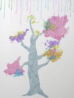 Watercolor Tree by NaomiTaylor