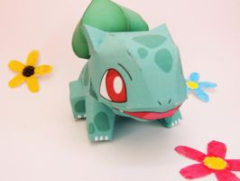 Bulbasaur Papercraft by Eli-riv