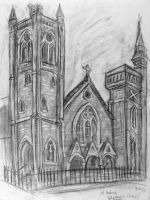 St. Andrew's Church sketch 1 by rawjawbone