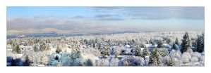 Vancouver Snow Panorama by th3rdeye