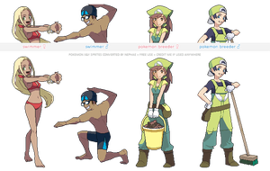 Pokemon XY trainer sprites ( II ) by Nephae