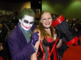 Megacon 2013 Harley and Joker by callmelittlewolf