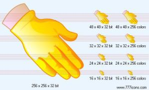 Gloved hand Icon by science-icons