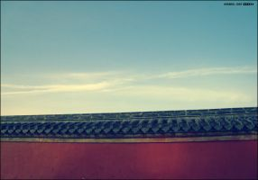 wall of The Palace Museum by aipotuDENG
