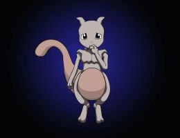 Sad Baby Mewtwo by Sinatzeek