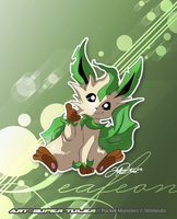 A Playful Leafeon by super-tuler