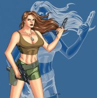 Hot Chick and Her Guns by wardogs101