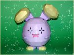 Whismur Papercraft by Skele-kitty