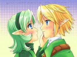 Link and Saria by yuina19