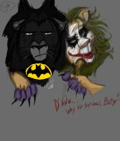 Lighten Up, Batman... by ParanoidSchizoAngel