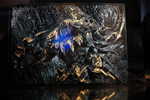 Golden RENGAR* Glass Engraving by Can Dogan by twombols