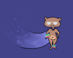 Super Glow Bear Hero!!!! by TheDreamRunner