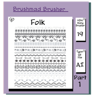 Illustrator Folk brush part 1 by brushmad