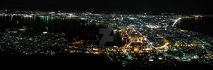 Mt. Hakodate Panoramic by Lorddarphyve