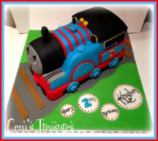 Thomas the Tank Engine Birthday Cake! by gertygetsgangster