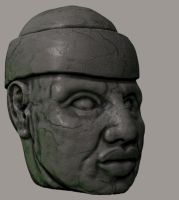 Olmec Head by magbhitu