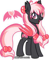 Strawberry Devilcake Adoptable (CLOSED) by xWhiteDreamsx
