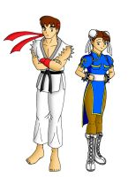Ryu and Chun Li by streetgals9000