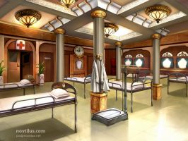 Hospital on Titanic by novtilus