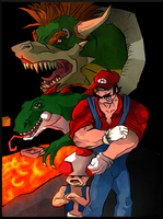 Mario goes kickass by Bittergeuse