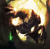 Endor Rancor by JonnyHex