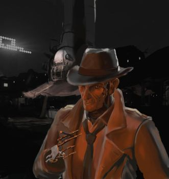 Fallout 4 - Nick Valentine by ant42onia