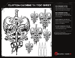 Clayton Carmine Tattoo by Cerberusx32
