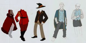 Potterverse School Uniform Designs by dinn