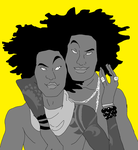 Les Twins by MiaMuffins