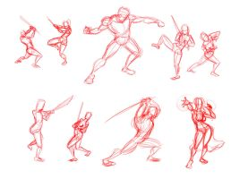 Sword and Fantasy Poses by TR-the-Animator