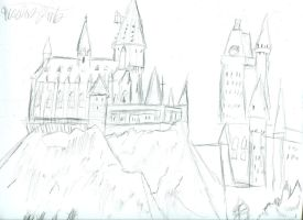 hogwarts castle by nicoflare