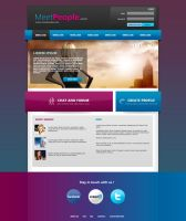 MeetPeople Web Template PSD by Martz90