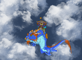 Lodur on a Dragon by Useperous