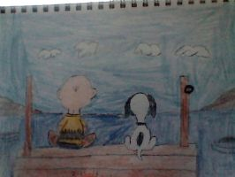 Charlie Brown and Snoopy by Bluesplendont