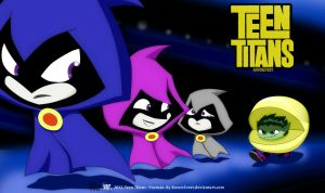 Teen Titans - Pacman Version by RavenEvert