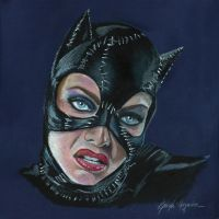 Michelle Pfeiffer catwoman by leidanogueira
