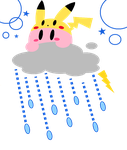 :Kirby: Little Thunderstorm by Plucky-Nova