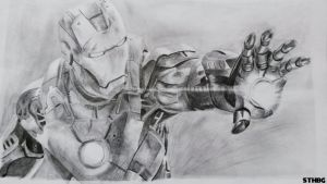 Iron Man - Pencil Drawing by SonicTheHedgehogBG