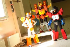 Rodimus Prime, Rung and Perceptor (cosplay) by Merry-Taggg