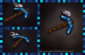 Minecraft Pick Charm by Emoeba