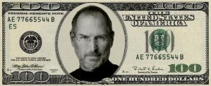 Steve Jobs $100 bill by MidoSpace
