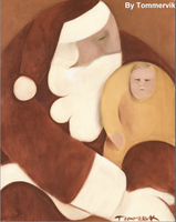 abstract santa claus painting by TOMMERVIK