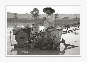 Man and his Tractor by PictureOfIndonesia