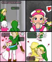 Young Zelda's crush by shamira-g