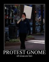 Protest Gnome by jwebbermedia