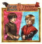 Arya and Tyrion for Envy by Valaquia