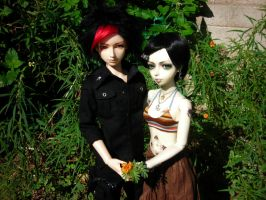 Lovers in the Garden by StonerKitty