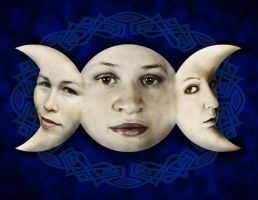 Triple Moon Goddess by BeauW